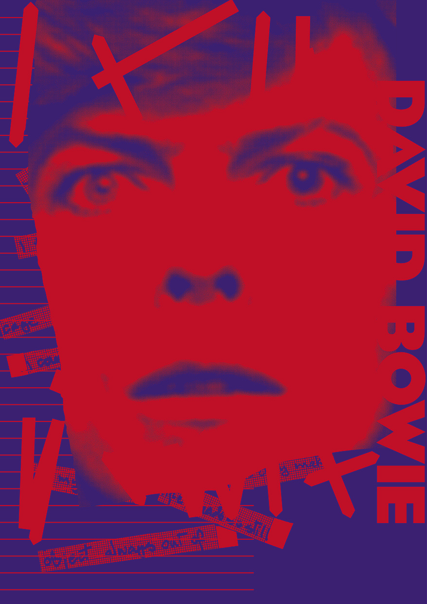 Bowie Poster Constructing The Self | Keith Dodds for Vivid Projects
